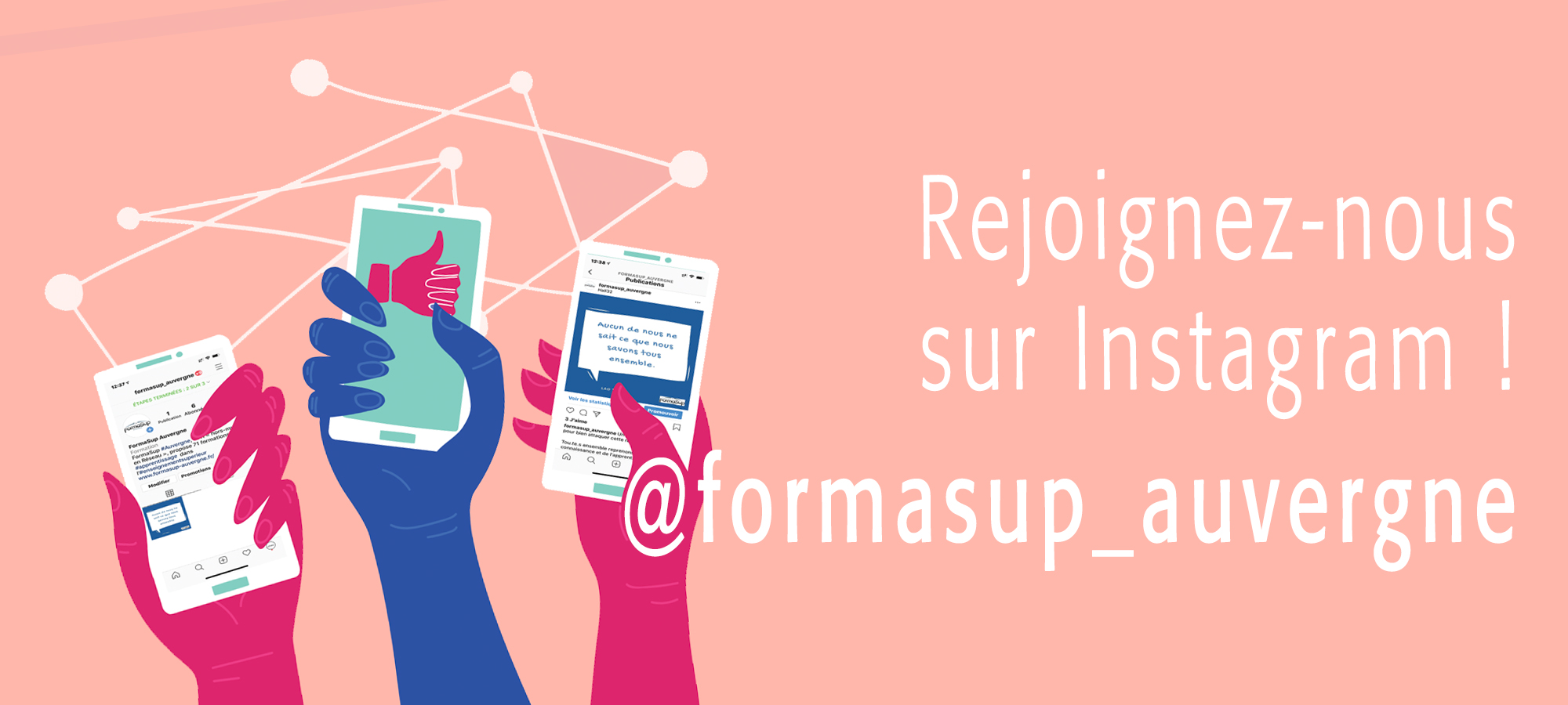 lancement instagram Formasup auvergne