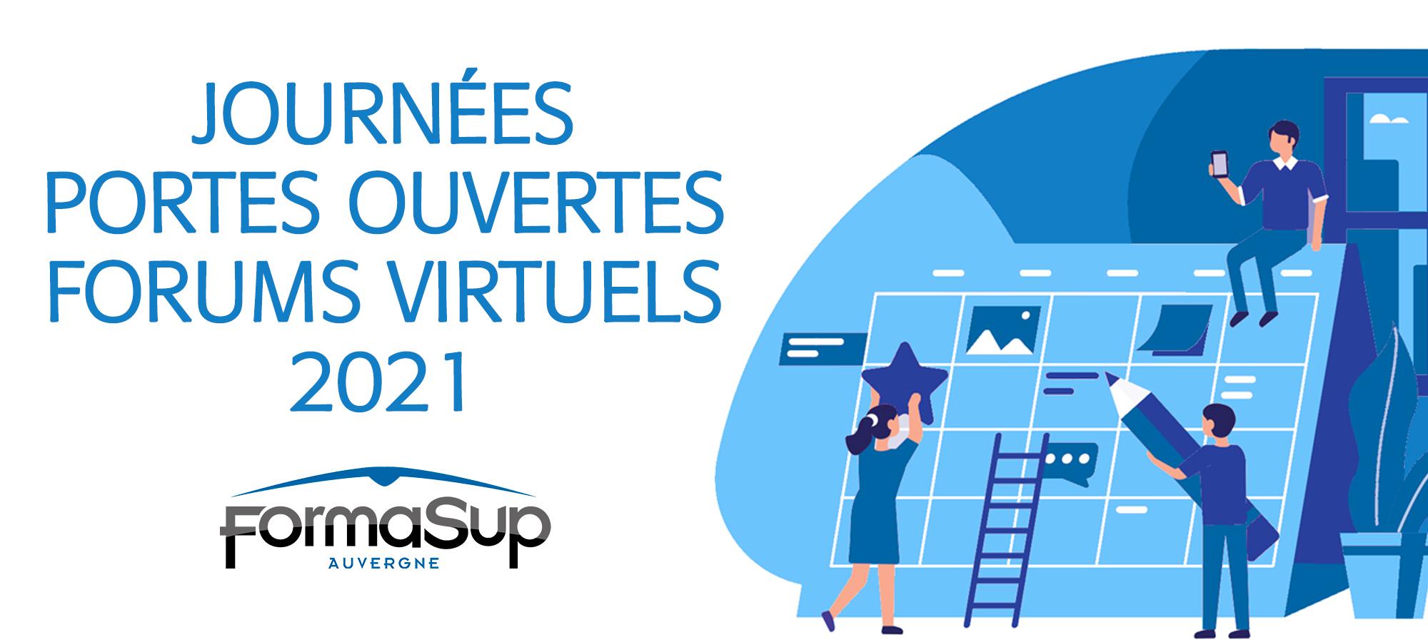 Journées Portes Ouvertes et forums virtuels 2021